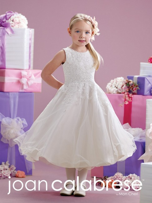 Joan Calabrese 215349 Lace A-line Flower Girl Dress