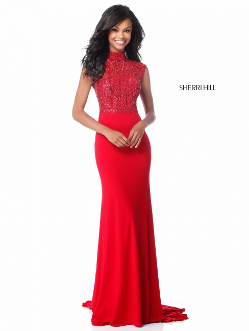 Sherri Hill 51876 Cutout Back Formal Dress