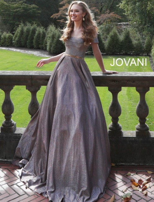 Jovani 66950 Off-The-Shoulder with Pockets Formal Dress