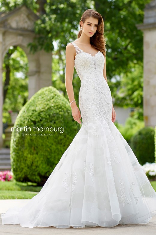 Martin Thornburg For Mon Cheri 118251 Aria V Back Wedding