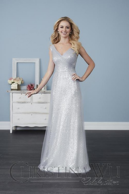 Fitted Caviar Mesh Bridesmaids Dress with Sweetheart
