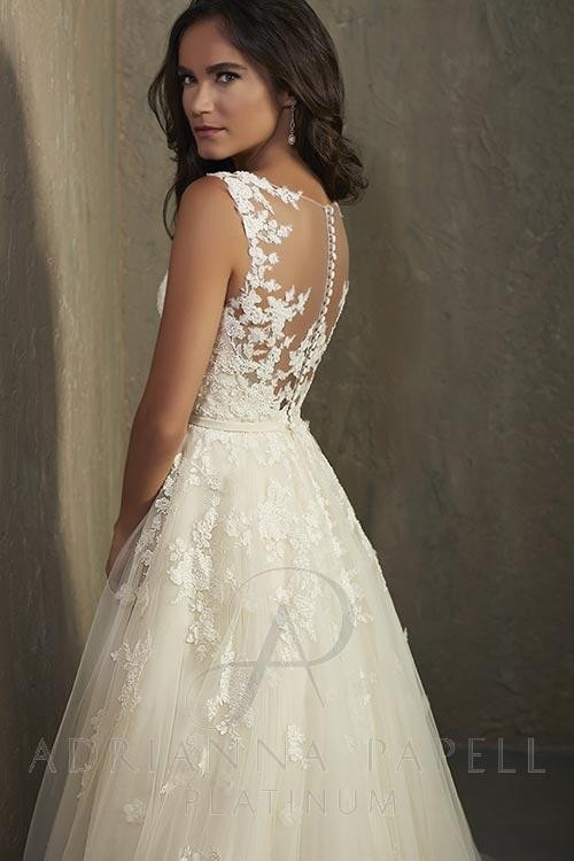 Adrianna Papell 31042 Hannah Wedding Dress | MadameBridal.com