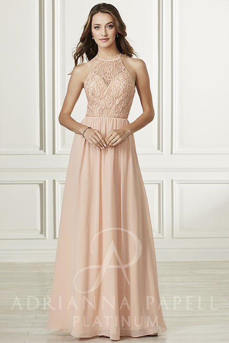Adrianna Papell 40175 Lace Top Bridesmaid Dress