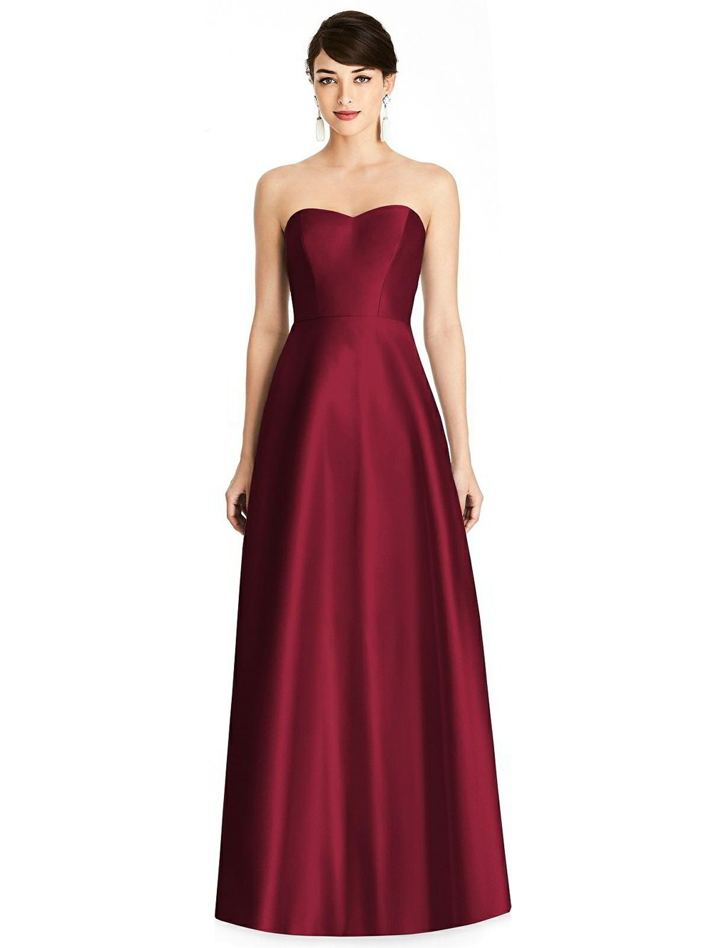 Alfred Sung D748 Strapless Sweetheart Neck Bridesmaid
