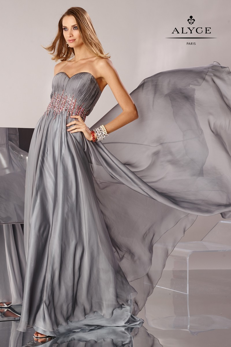 Alyce 6479 Dress Strapless Sweetheart Bodice Bejeweled
