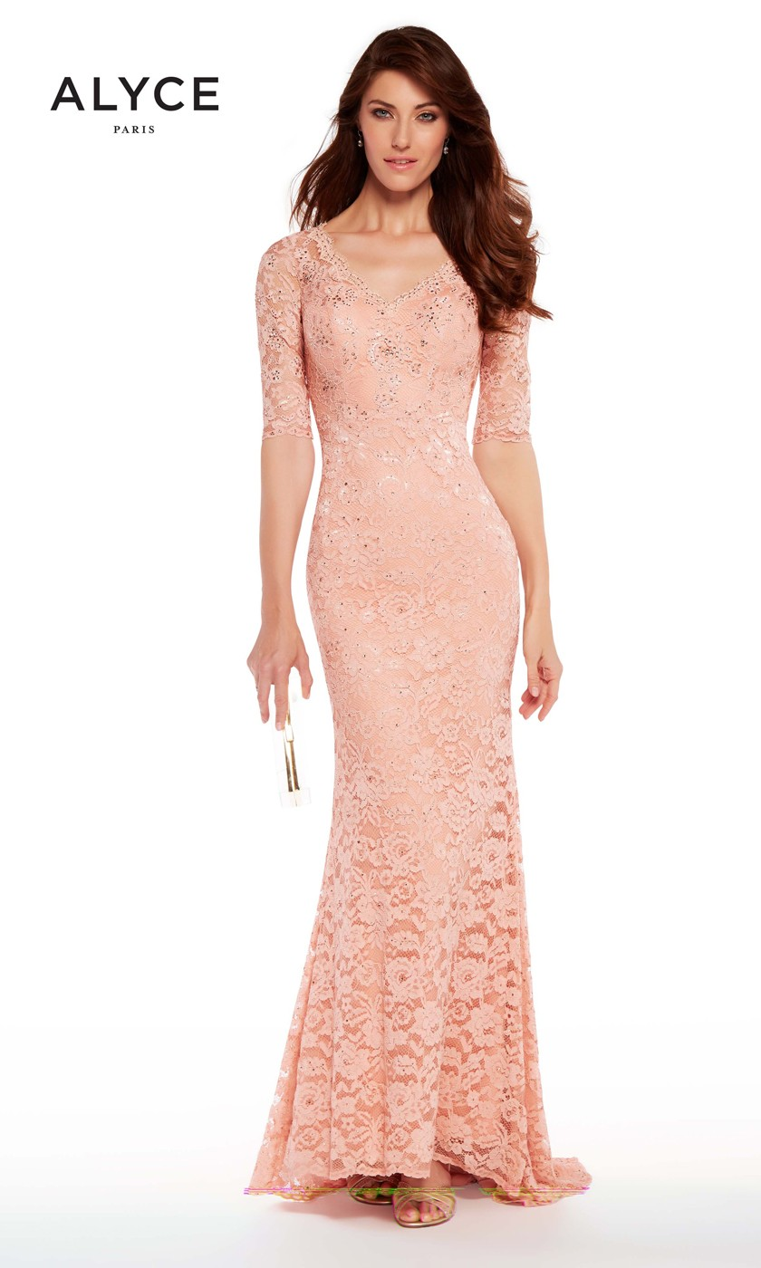 Alyce Paris 27241 Fitted Lace Formal Dress Madamebridal Com