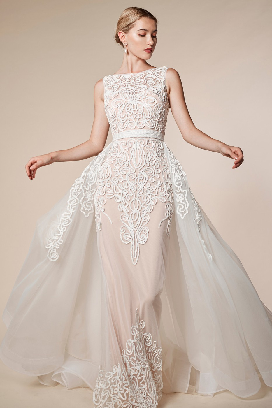 Andrea And Leo A5246 V Back With Overskirt Wedding Gown