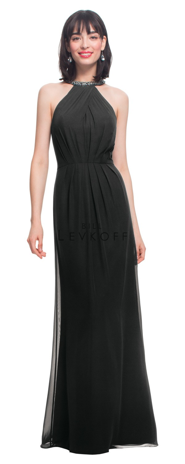 Bill Levkoff 1466 High Neck Bridesmaid Dress