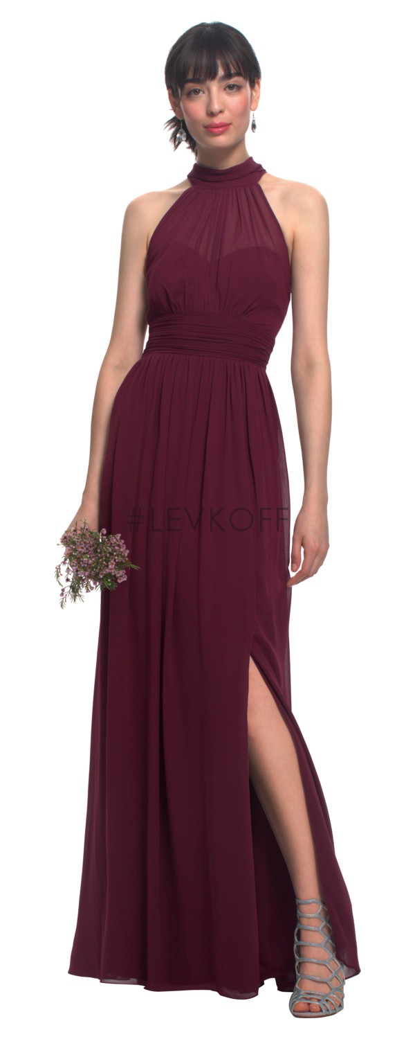 Bill Levkoff 7019 High Neck Bridesmaid Dress