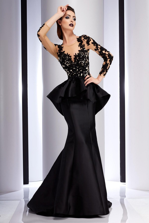 Clarisse Couture 4701 Pleated Peplum Evening Dress | MadameBridal.com