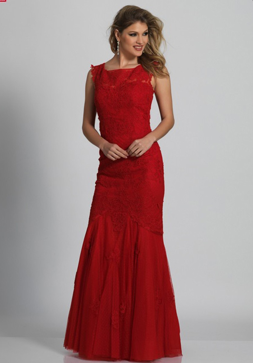 Dave and Johnny A1937W Trumpet Silhouette Plus Size Prom Dress