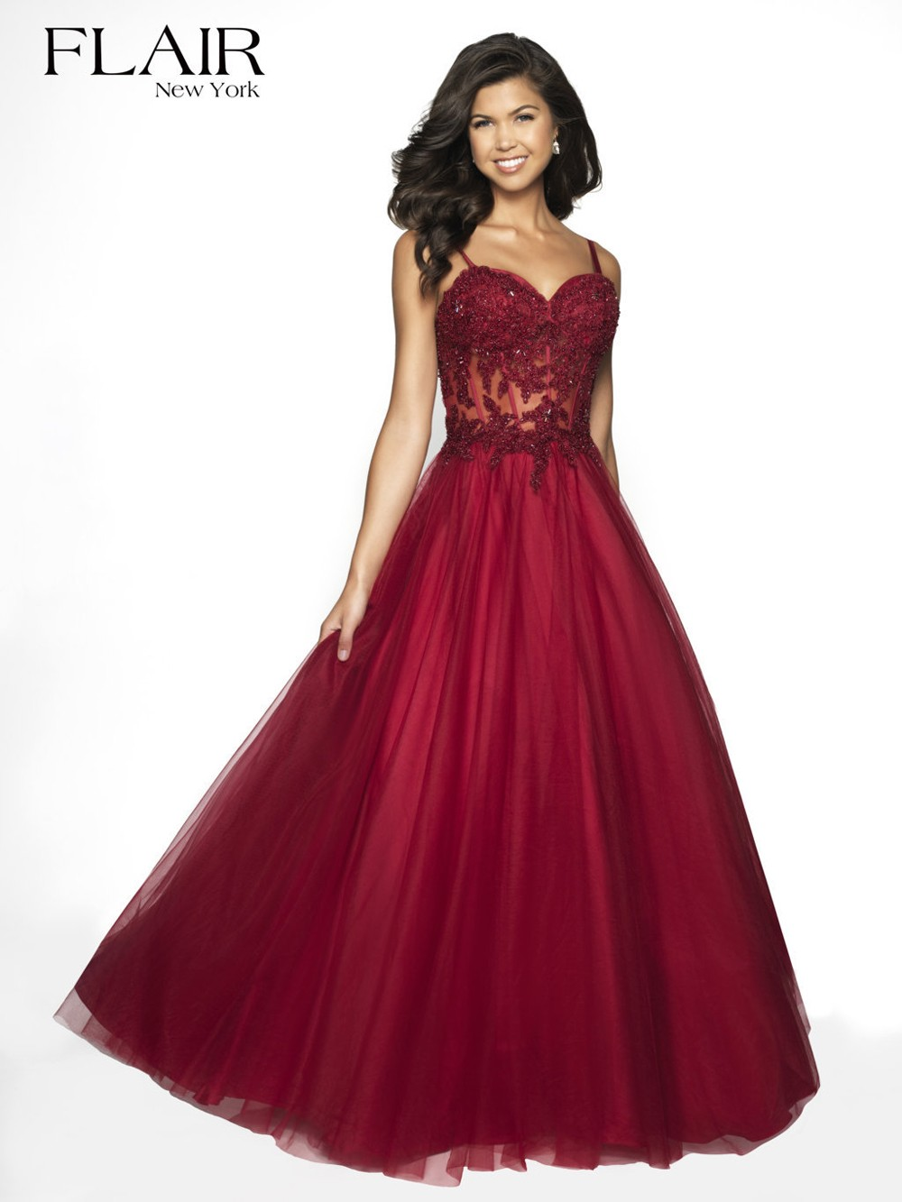 9268ceec Flair NY 19007 Corset Top Prom Gown