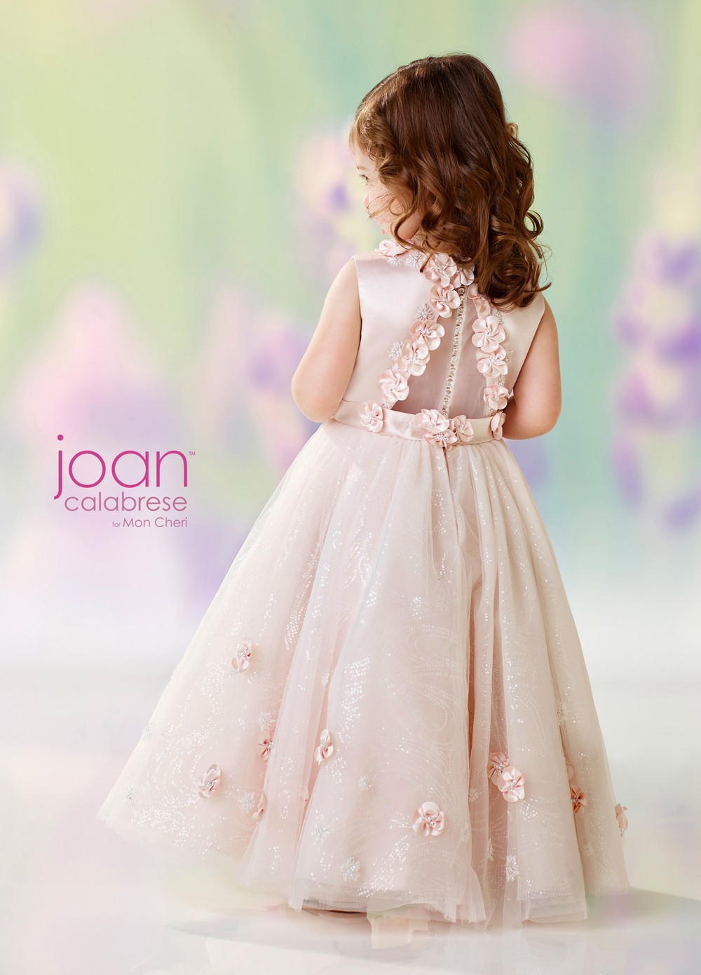 Joan Calabrese 118301 Illusion Back Flower Girl Dress