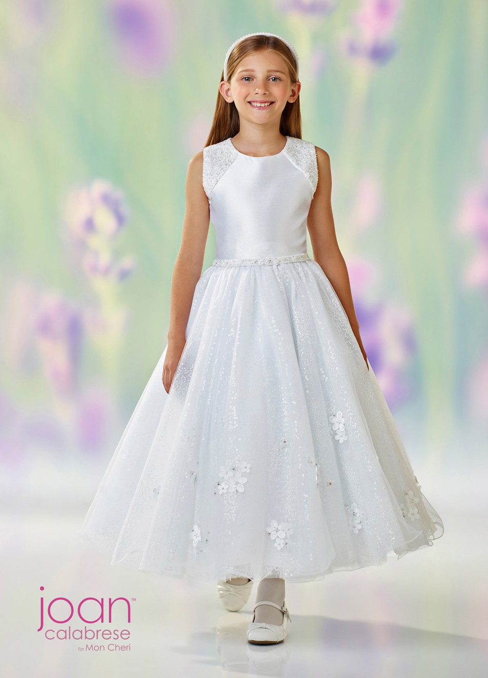 Joan Calabrese 118314 Cutout Back First Communion Dress ...