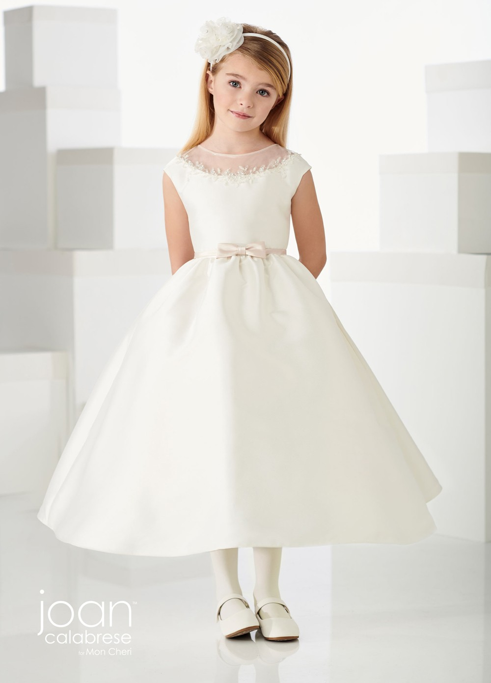 pretty nice amazon buy good Joan Calabrese 219313 Cap Sleeve First Communion Dress