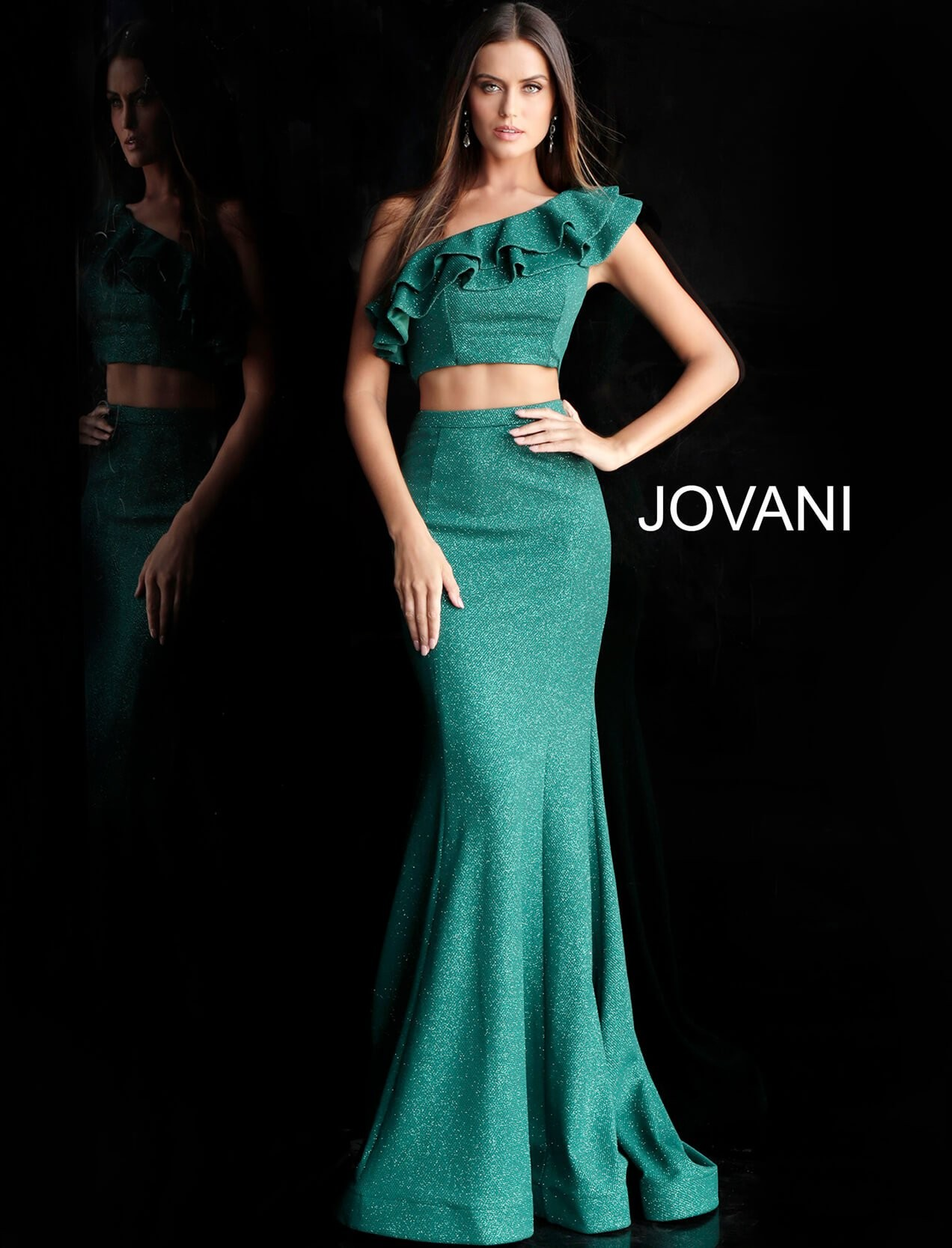 buying cheap latest selection of 2019 outlet Jovani 66271 One Shoulder Two Piece Prom Gown