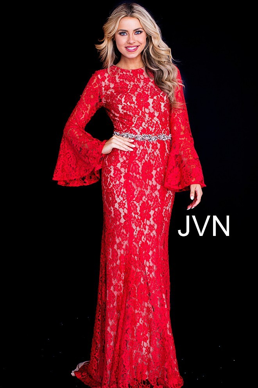 Jovani Jvn58144 Bell Sleeves Prom Dress