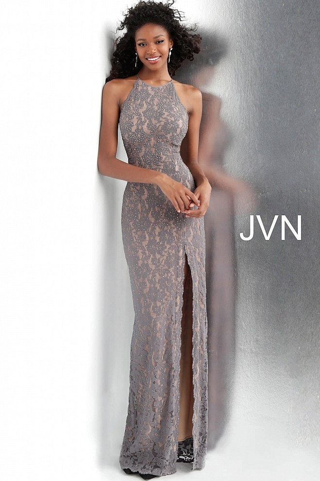Jovani Jvn61347 Beaded Lace Prom Dress