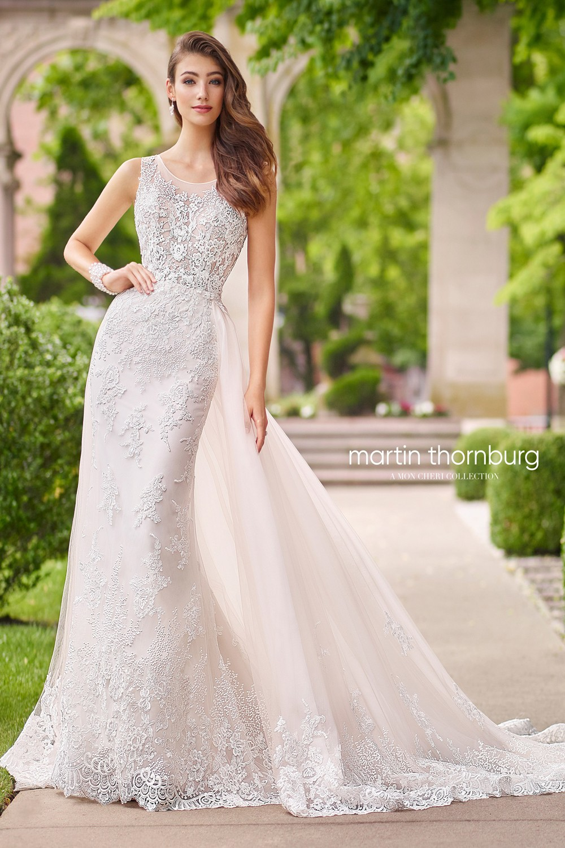 Martin Thornburg for Mon Cheri 118266 Nera Wedding Gown with ...
