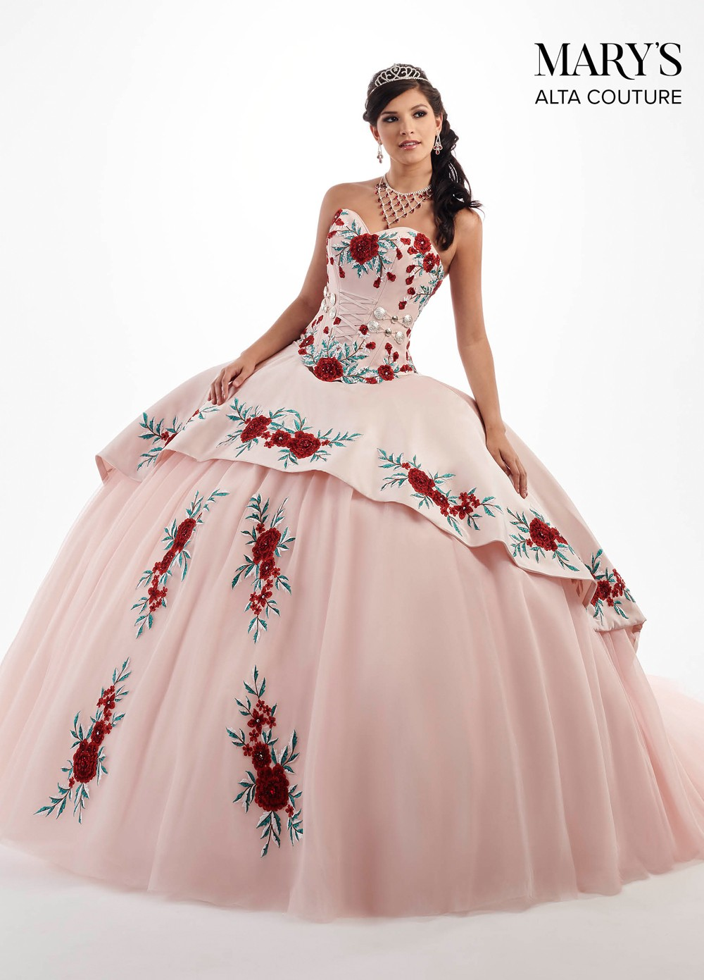 Marys Bridal Mq3024 Strapless Sweetheart Neck Quinceanera
