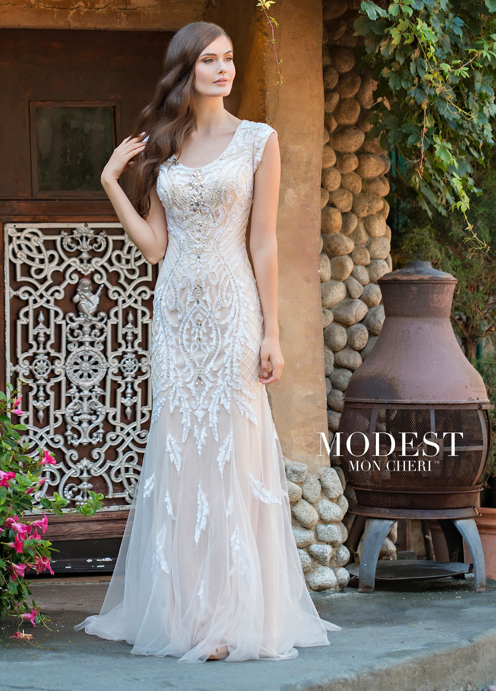 Modest Bridal by Mon Cheri TR11837 Fit And Flare Wedding Gown ...