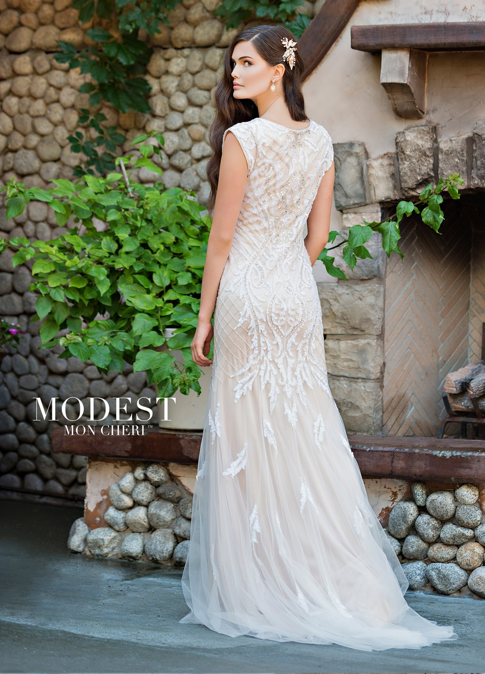 Modest Bridal By Mon Cheri Tr11837 Fit And Flare Wedding