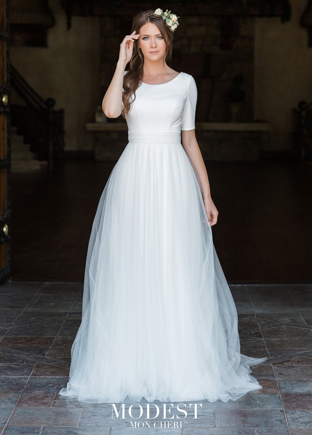 Modest Bridal By Mon Cheri Tr11980 Dress Madamebridal