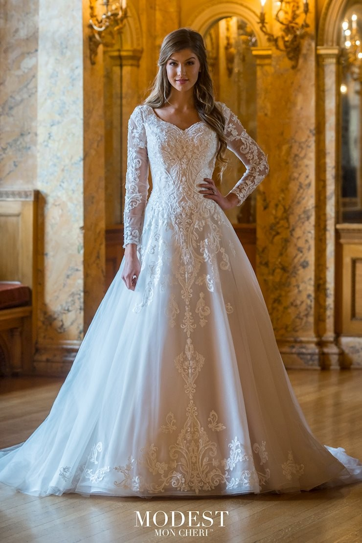 Modest Bridal by Mon Cheri TR20 Long Sleeve Wedding Dress