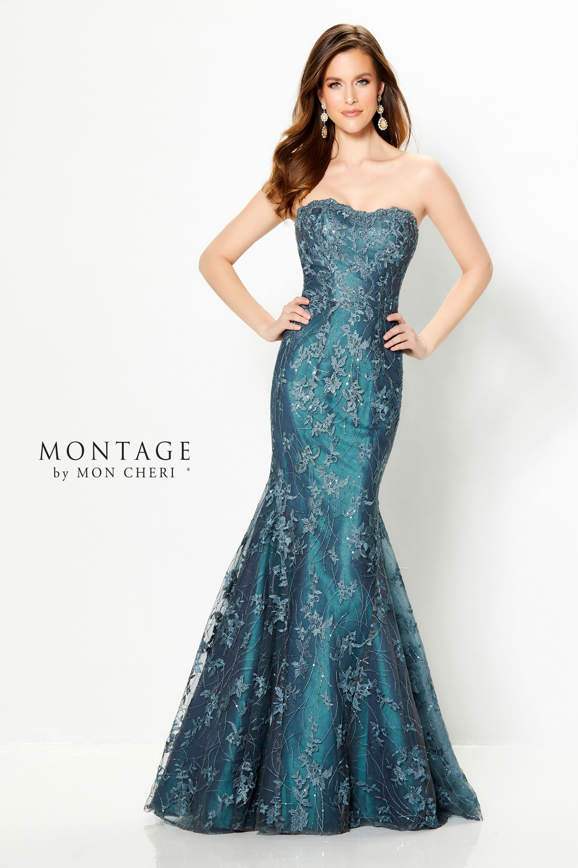 Montage By Mon Cheri 219979 Strapless Formal Dress