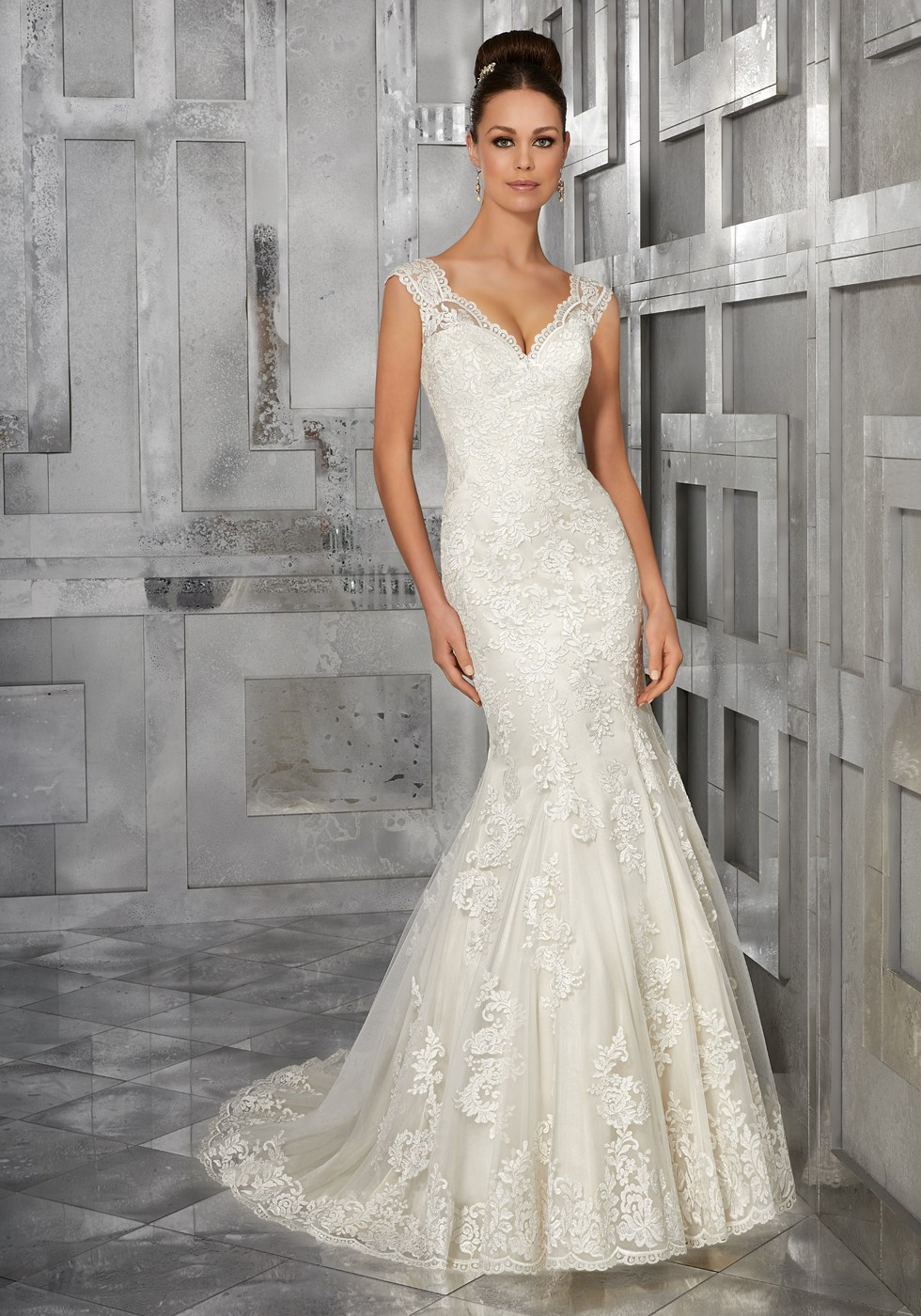 Mori Lee 5562 Monet Lace Wedding Dress