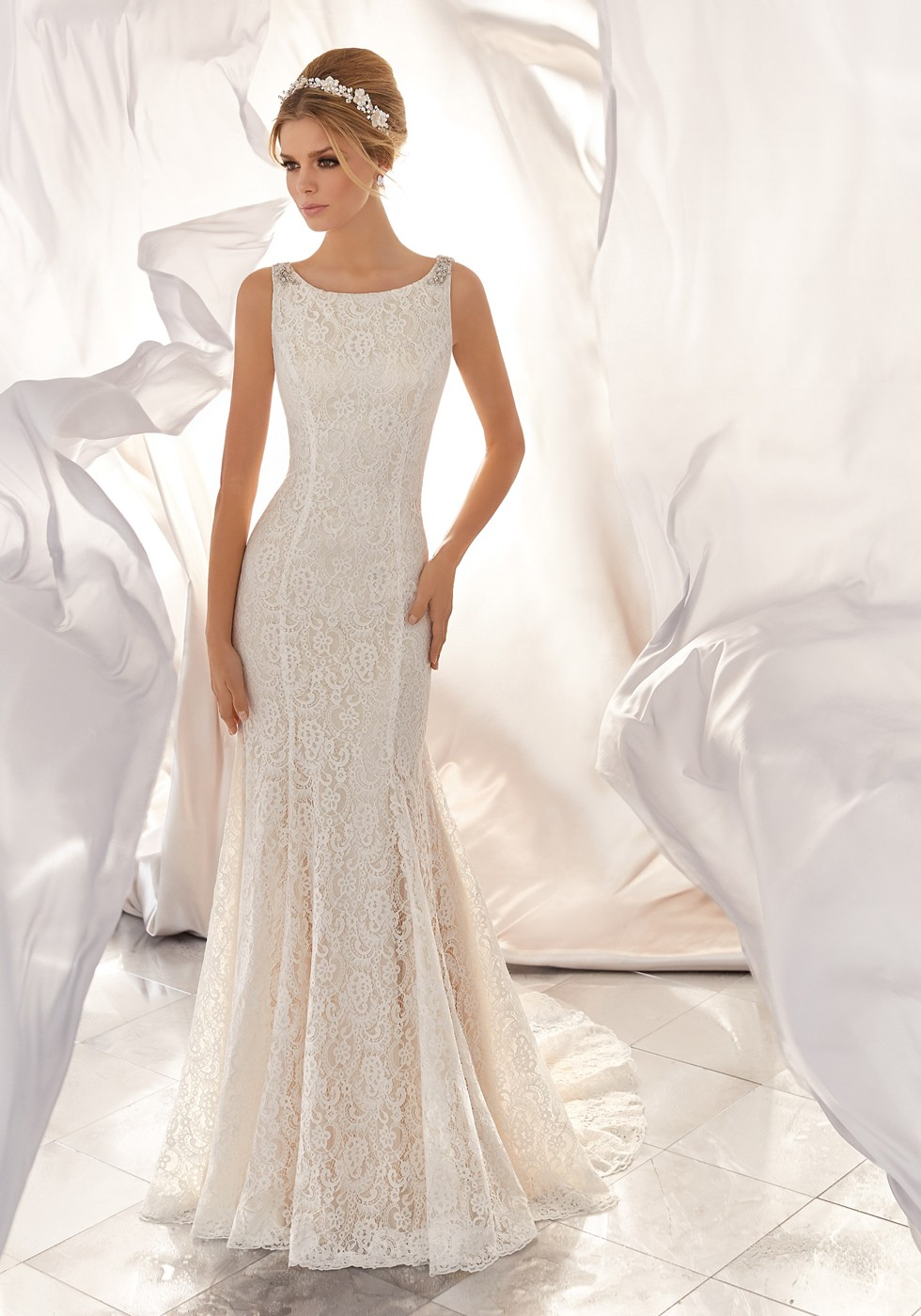 Mori Lee 6866 Mona Wedding Dress | MadameBridal.com