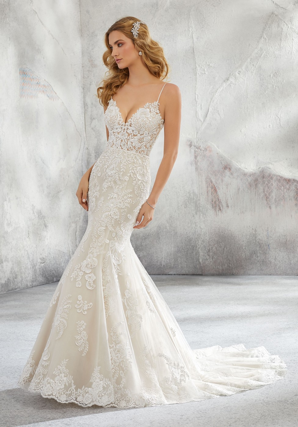 Lace Top Wedding Gown