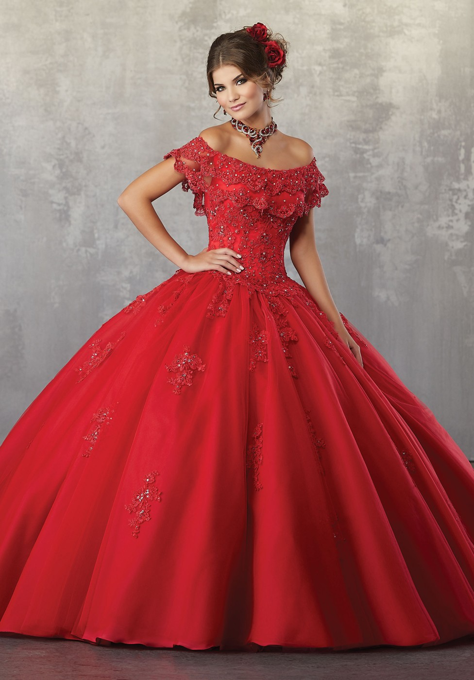 Fashion week Dresses quince red for girls