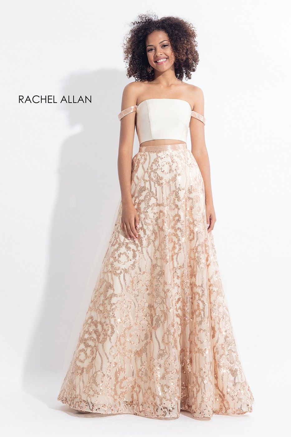 Rachel Allan 6093 Off The Shoulder Prom Dress