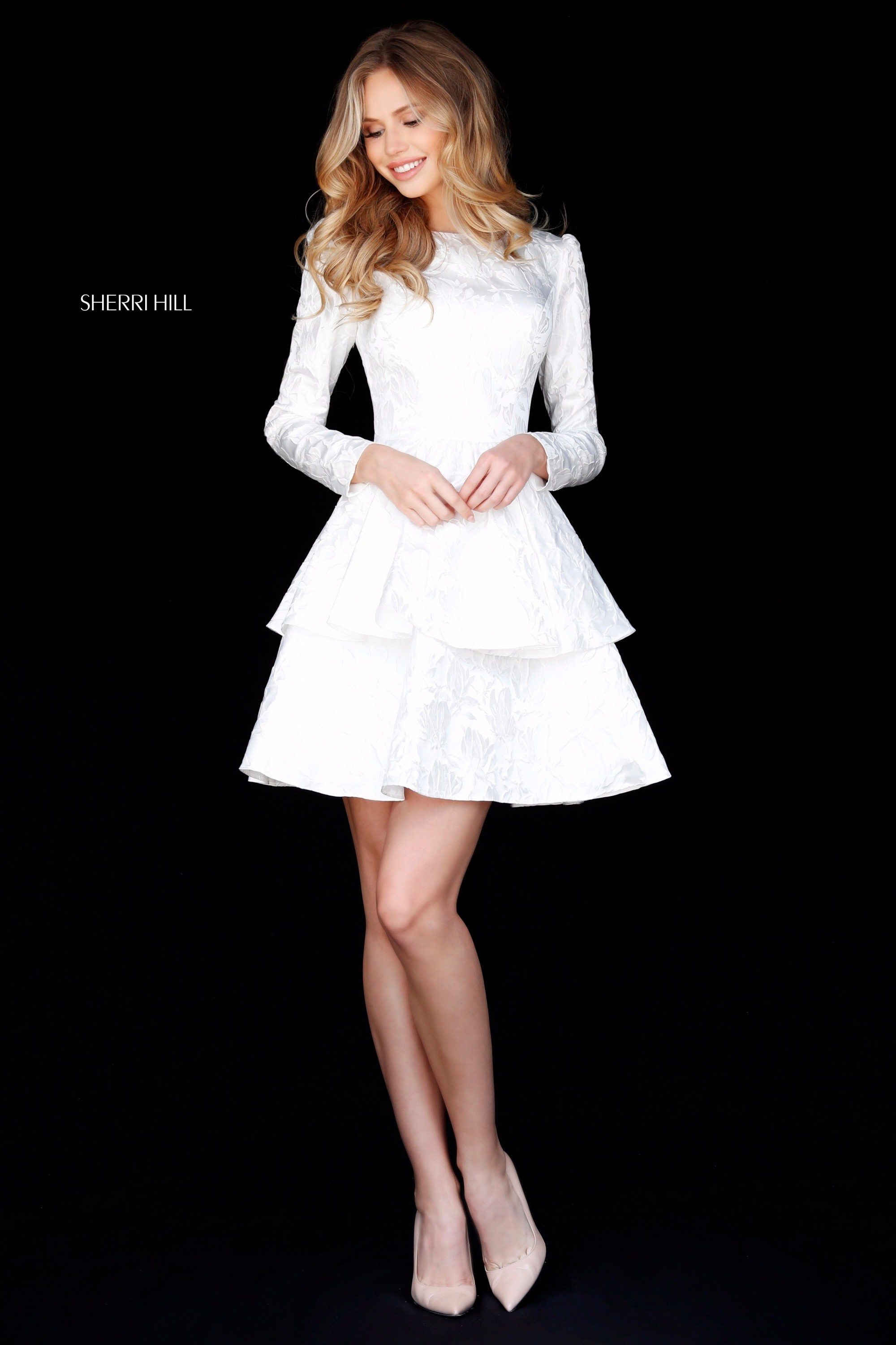 Sherri Hill Short White Dress