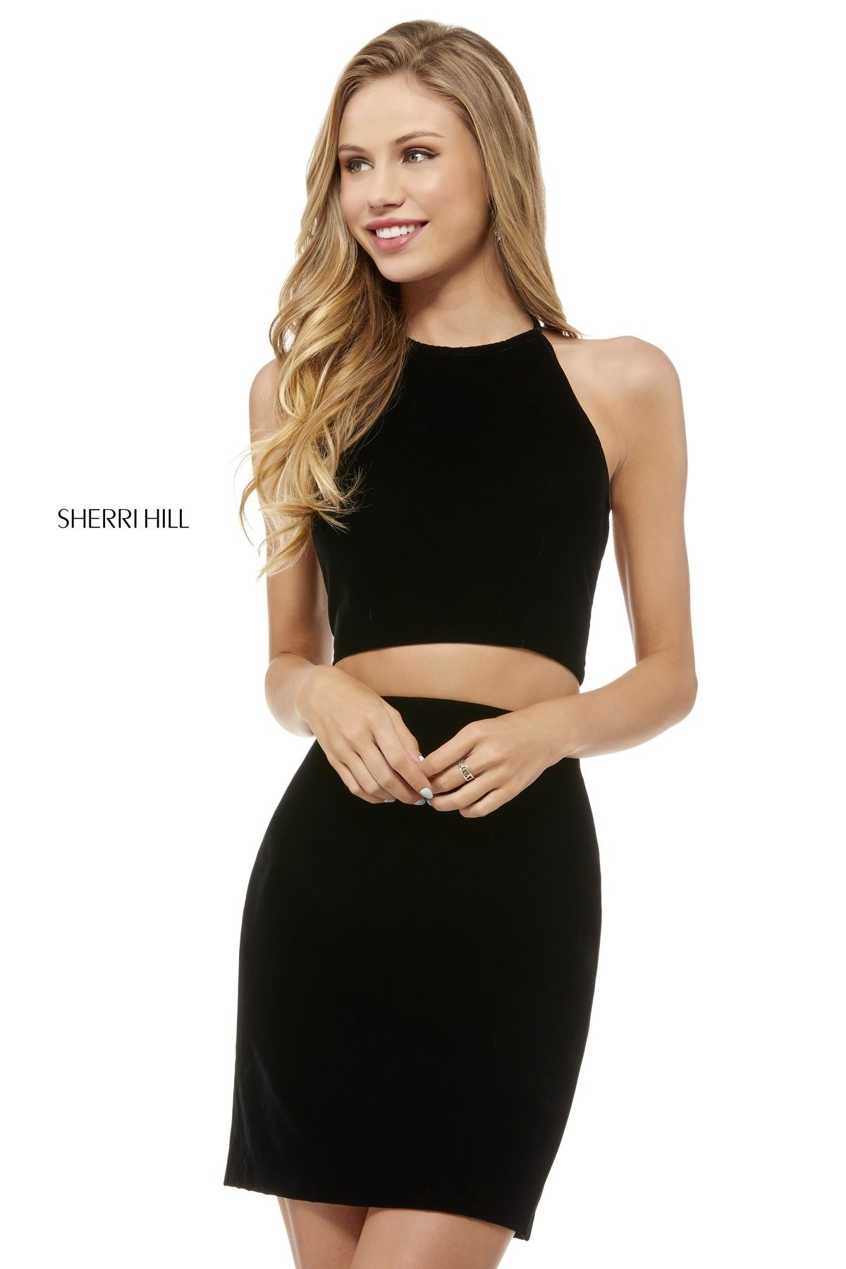 pretty cool browse latest collections look for Sherri Hill 52258 Strappy Back 2 Piece Short Party Dress
