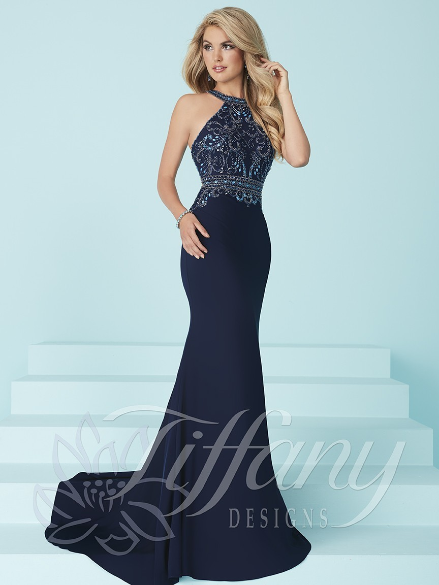 Tiffany Designs 16224 Prom Dress | MadameBridal.com