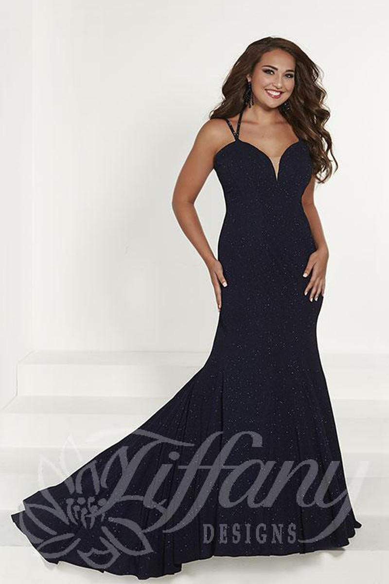 Tiffany Designs 16387 Sweetheart Neck Plus Size Formal Gown