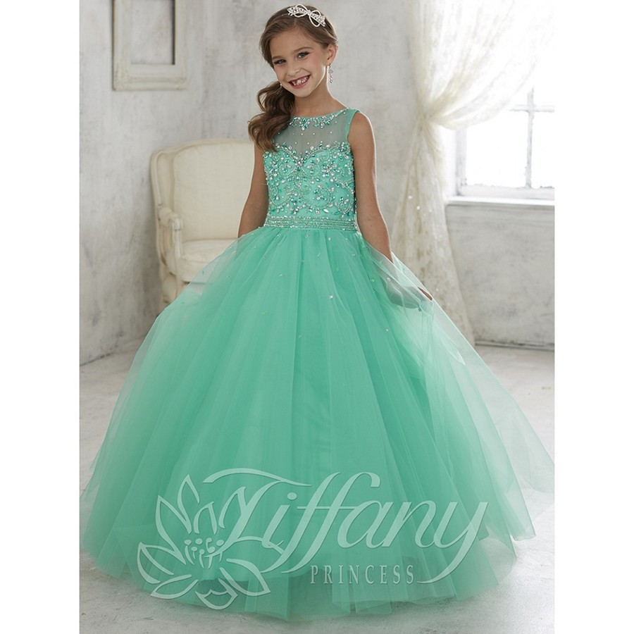 Teal Pageant Dresses
