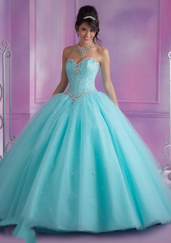 Vizcaya 89017 Modified Sweetheart Pastel Lace-up Back Ballgown ...