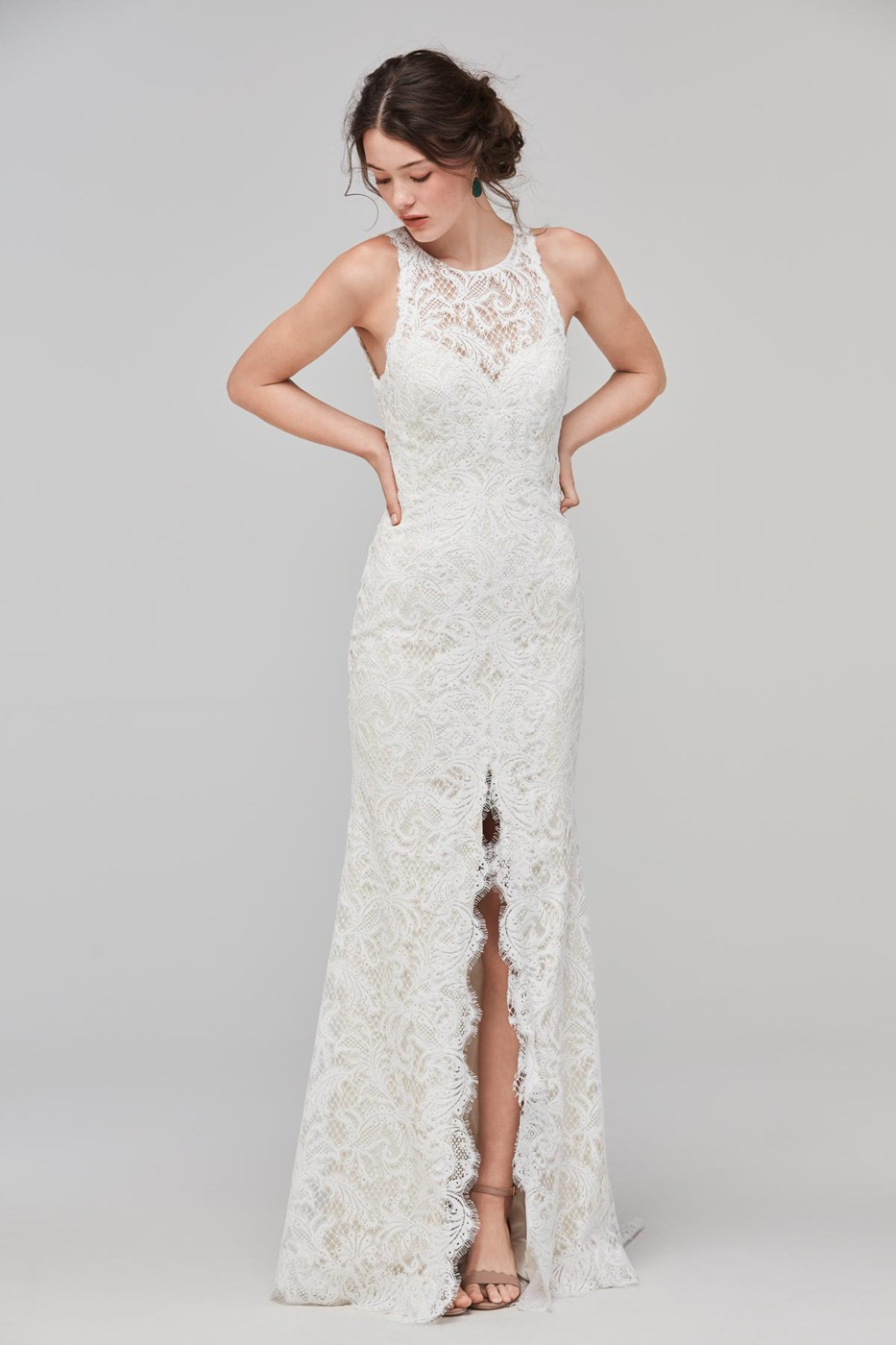 Willowby 59115 Adia High Neck Wedding Dress | MadameBridal.com