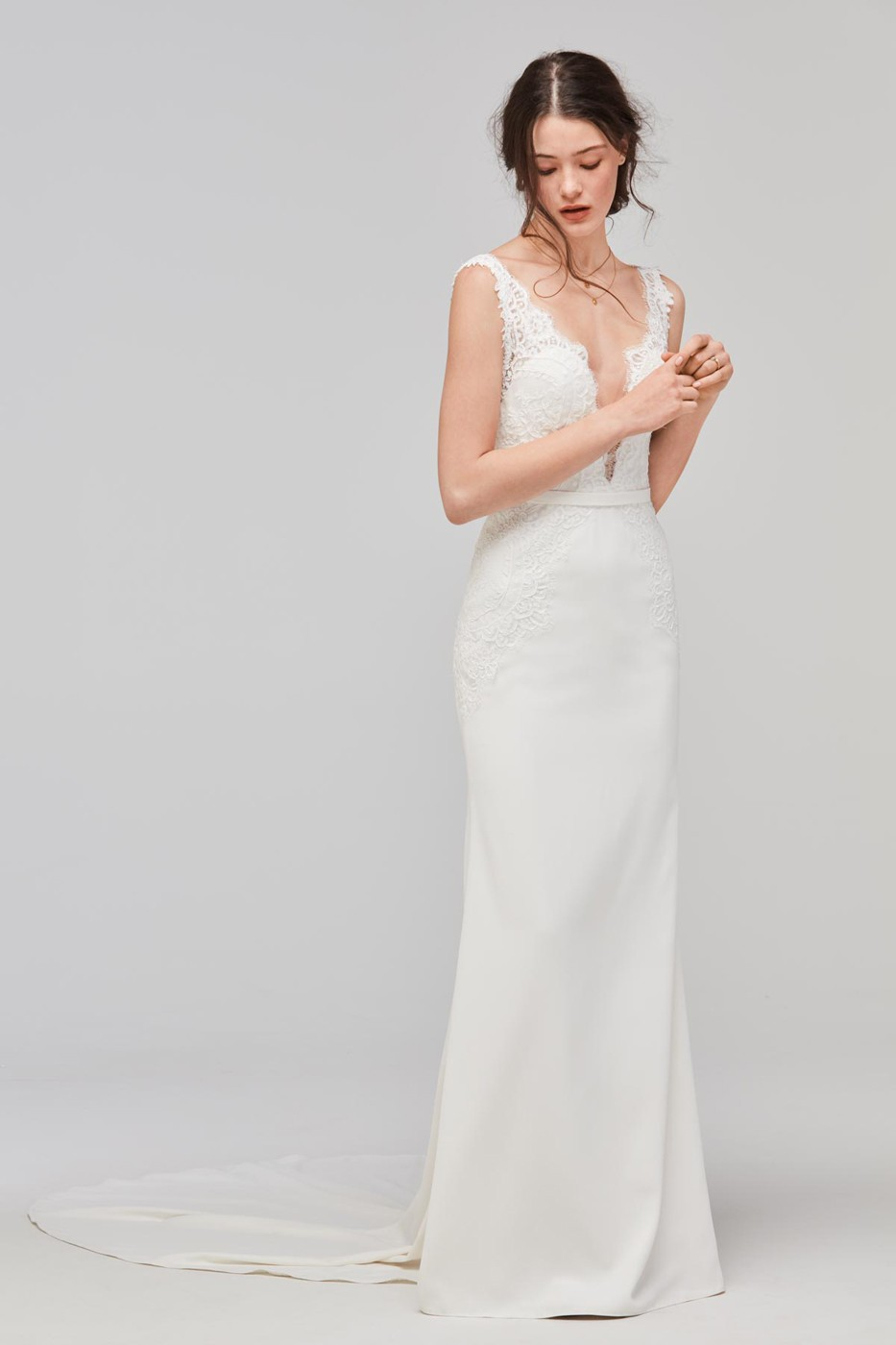 Willowby 59420M Lief Sheath Silhouette Wedding Dress | MadameBridal.com