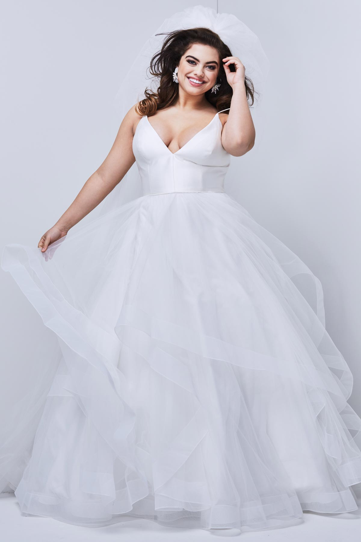 WTOO 10200 Phaedra Flounce Skirt Plus Size Wedding Dress