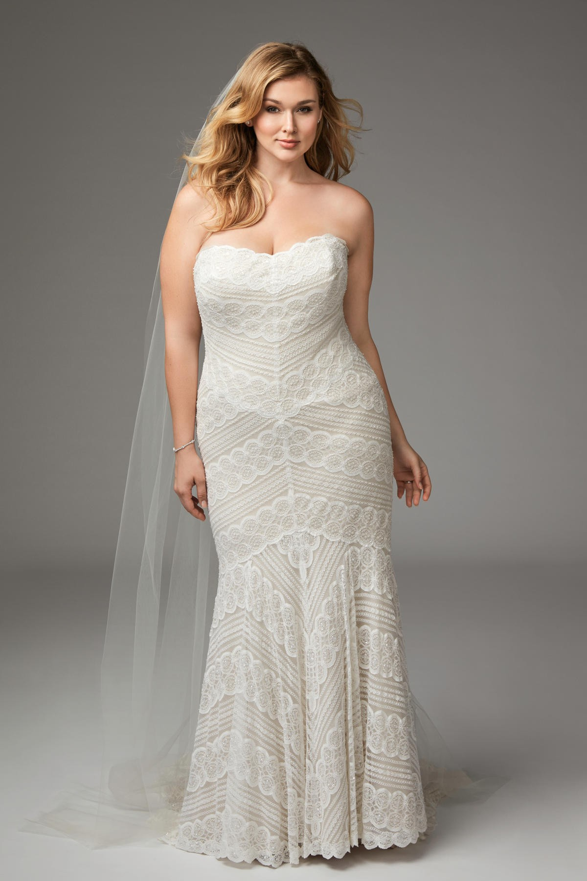 WTOO 13111 Pippin Strapless Plus Size Bridal Dress