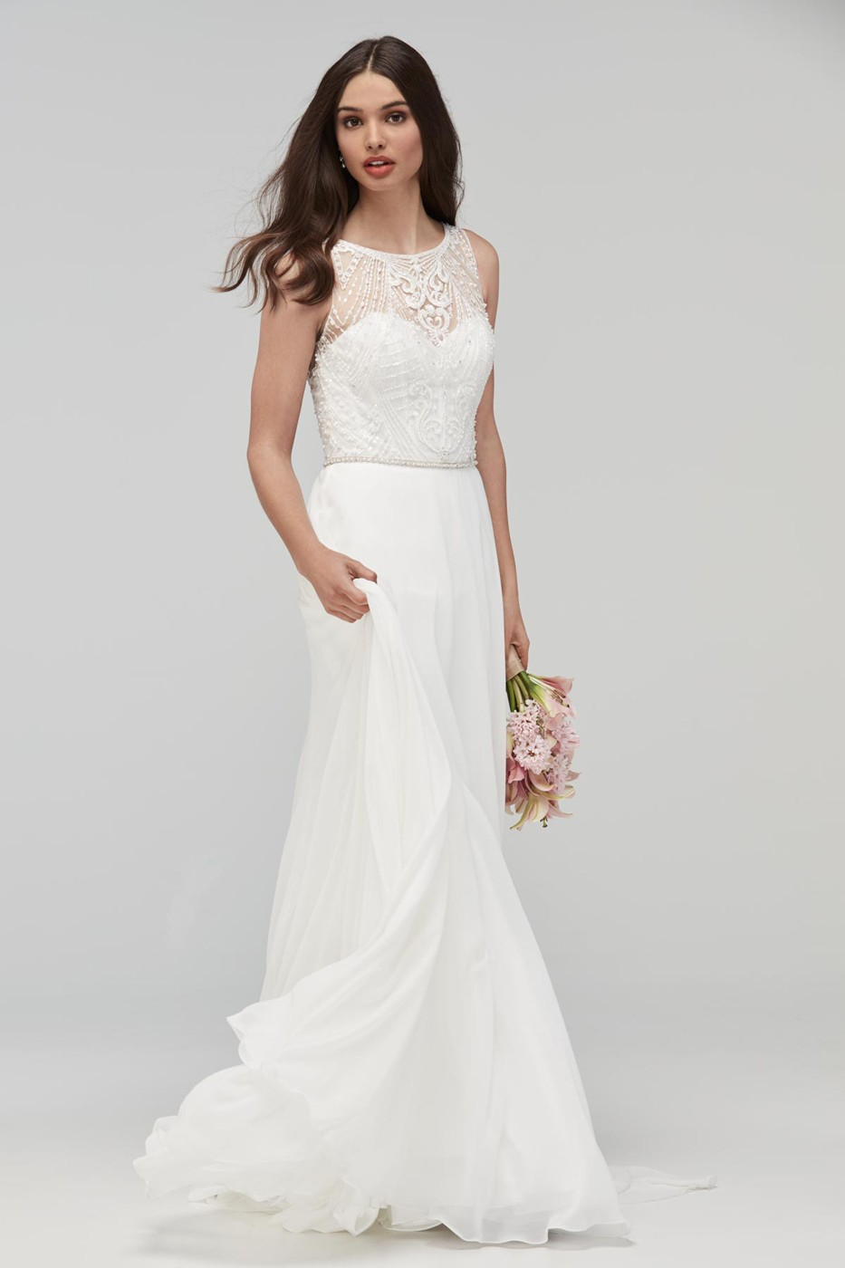 WTOO 19705 Hathaway High Neck Bridal Gown | MadameBridal.com