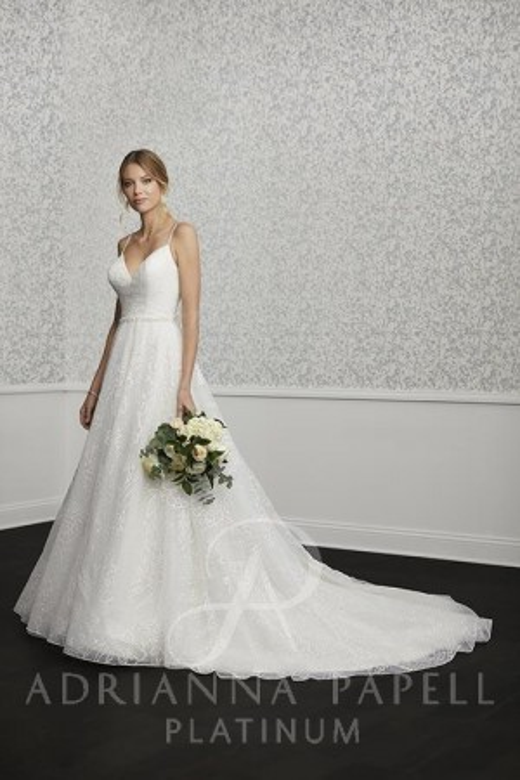 21eb85d51eaf Adrianna Papell 31124 Spaghetti Strap Wedding Gown