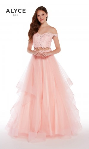 Alyce Paris 1300 Off-The-Shoulder Two Piece Prom Dress
