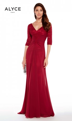 Alyce Paris 27234 Three-Quarter Sleeve Evening Gown