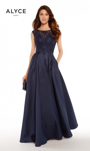 Alyce Paris 27243 A-line Formal Gown with Pockets