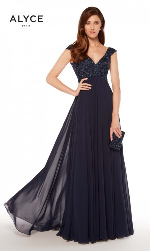 Alyce Paris 27246 Empire-Waist Formal Gown